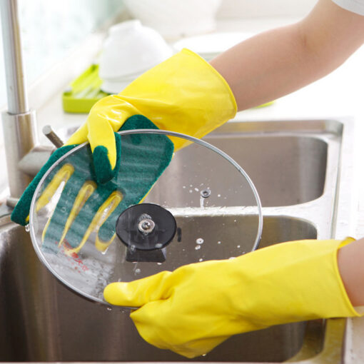 1 Pair Creative Home Washing Cleaning Gloves Garden Kitchen Dish Sponge Fingers Rubber Household Cleaning Gloves 3