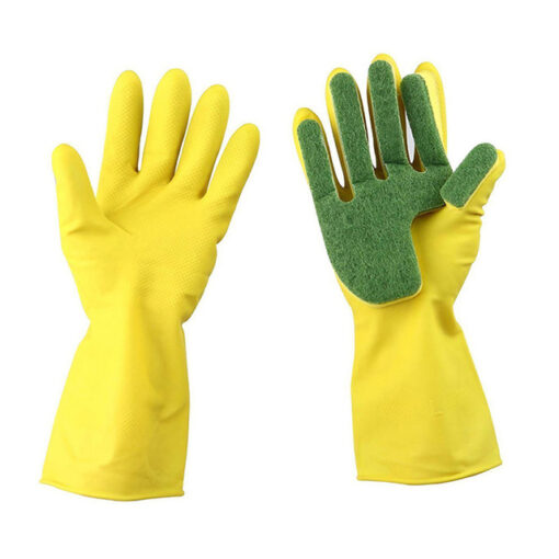 1 Pair Creative Home Washing Cleaning Gloves Garden Kitchen Dish Sponge Fingers Rubber Household Cleaning