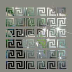 10pcs lot Geometric Waist 3D Mirror Wall Sticker For Ceiling Living Room Bedroom Acrylic Mural Wall 1