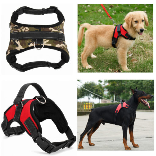 2017 Nylon Heavy Duty Dog Pet Harness Collar K9 Padded Extra Big Large Medium Small Dog 1