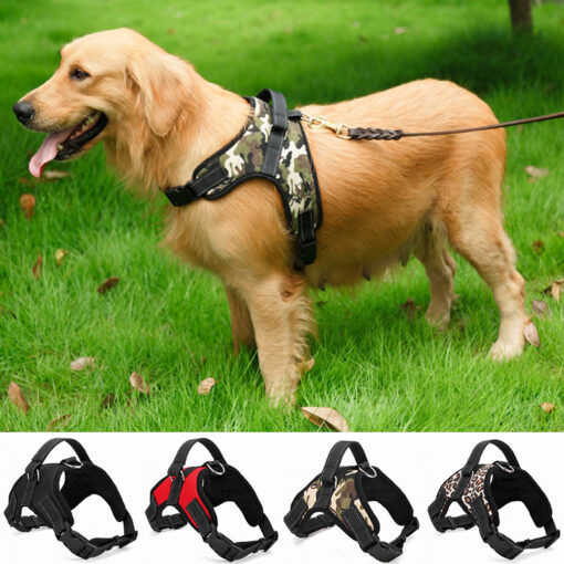 2017 Nylon Heavy Duty Dog Pet Harness Collar K9 Padded Extra Big Large Medium Small Dog