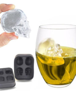 3D Skull Ice Cube Mold Maker Kitchen Silicone Chocolate Tray Cake Candy Mould Bar Party Cool 1