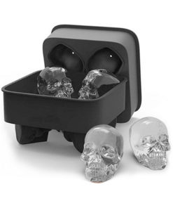 3D Skull Ice Cube Mold Maker Kitchen Silicone Chocolate Tray Cake Candy Mould Bar Party Cool