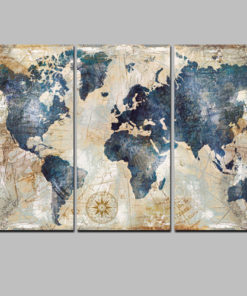 3Panel Watercolor World Map Painting HD Print on Canvas Landscape Modular Wall Painting Sofa Cuadros Art 2.jpg 640x640 2