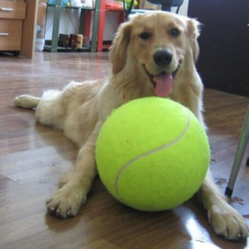 9 5 Inches Dog Tennis Ball Giant Pet Toy Tennis Ball Dog Chew Toy Signature Mega