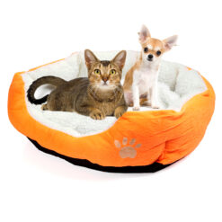 Cute Soft Dog Cat Pet Bed Mini House for Candy Colored Dogs Beds Soft Warm Pet 1