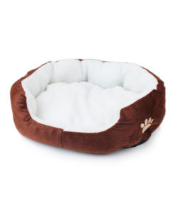 Cute Soft Dog Cat Pet Bed Mini House for Candy Colored Dogs Beds Soft Warm Pet 5