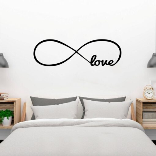 Free Shipping Bedroom Wall Decals Love Wall Stickers Bedroom Decor Infinity Symbol Word Love bedroom vinyl 2