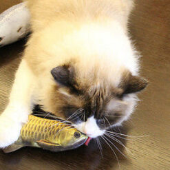 Funny Lifelike Fish Shape Pet Cat Kitten Teaser Cute Simulation Fish Playing Toy Catnip Toy Pillow 4