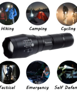 LED Flashlight 6200 Lumen CREE XM L T6 LED Tactical Flashlight Torch 5Mode Zoomable Flashlight Waterproof 5