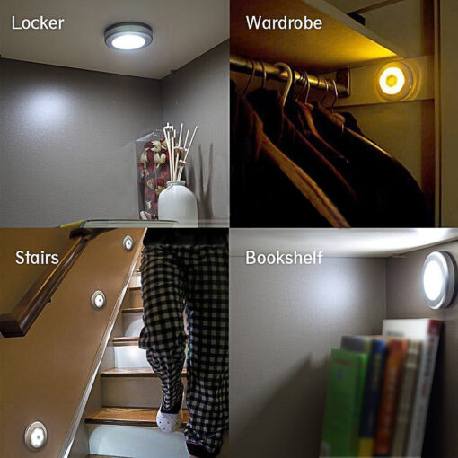 LumiParty Infrared PIR Motion Sensor 6 Led Night Light Wireless Detector Light Wall Lamp Light Auto 3