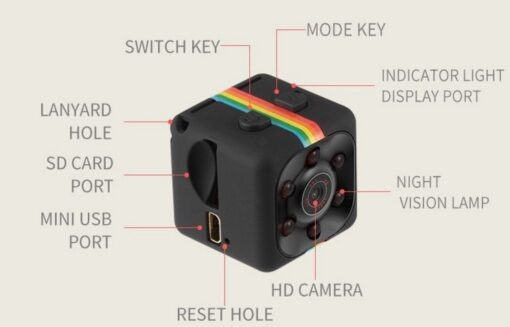 Newest Hot Mini Camera SQ8 SQ9 SQ11 HD Camcorder HD Night Vision Mini Camera 1080P Aerial 3