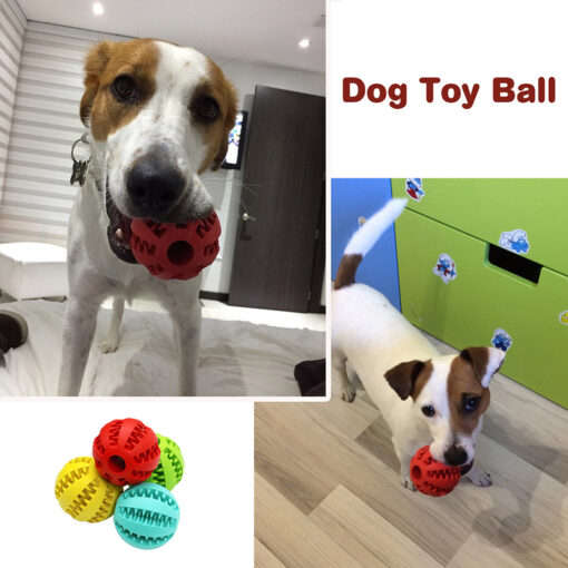 Pet Dog Toys Extra tough Rubber Ball Toy Funny Interactive Elasticity Ball Dog Chew Toys For 4