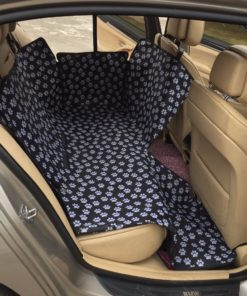 Pet carriers Oxford Fabric Paw pattern Car Pet Seat Covers Waterproof Back Bench Seat Travel Accessories 2