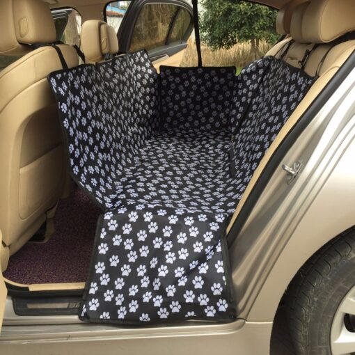 Pet carriers Oxford Fabric Paw pattern Car Pet Seat Covers Waterproof Back Bench Seat Travel Accessories