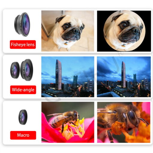 Universal Wide Angle Zoom Macro Lenses Mobile Phone Lens Fisheye Camera Fish eye For iPhone 6 1