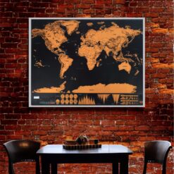 drop shipping 1 pcs New arrival Deluxe Scratch Map Personalized World Scratch Map Mini Scratch Off 2