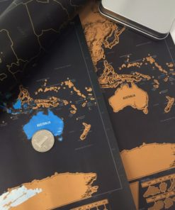 drop shipping 1 pcs New arrival Deluxe Scratch Map Personalized World Scratch Map Mini Scratch Off 5