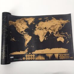 drop shipping 1 pcs New arrival Deluxe Scratch Map Personalized World Scratch Map Mini Scratch Off 6