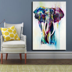 xh181 Big Triptych Watercolor Deer Head Posters Print Abstract Animal Picture Canvas Painting No Frames Living 12.jpg 640x640 12