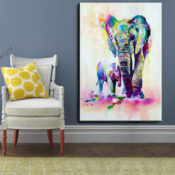 xh181 Big Triptych Watercolor Deer Head Posters Print Abstract Animal Picture Canvas Painting No Frames Living 13.jpg 640x640 13